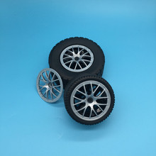 4Pcs/Lot Technic Parts 44071 Wheels Cover 7 Spoke with Axle Hole - 56mm D. Blocks DIY Toys Fits For Cars