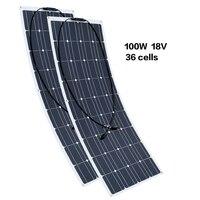 200 W 18 V 1175*540*3 мм гибкий Панели солнечные монокристаллического 36 ячеек эффективное MC4 Разъем 12 V Батарея RV яхт автомобиль дома заряда