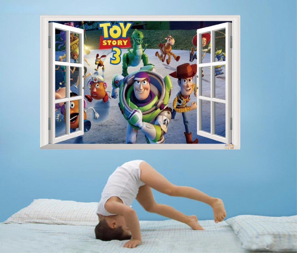 2015 The New Toy Story 3 Wall Sticker Home Decor For Kids Rooms Backdrop  Bedroom Of Decorative Wall Stickers WallPaper In Wall Stickers From Home U0026  Garden ...