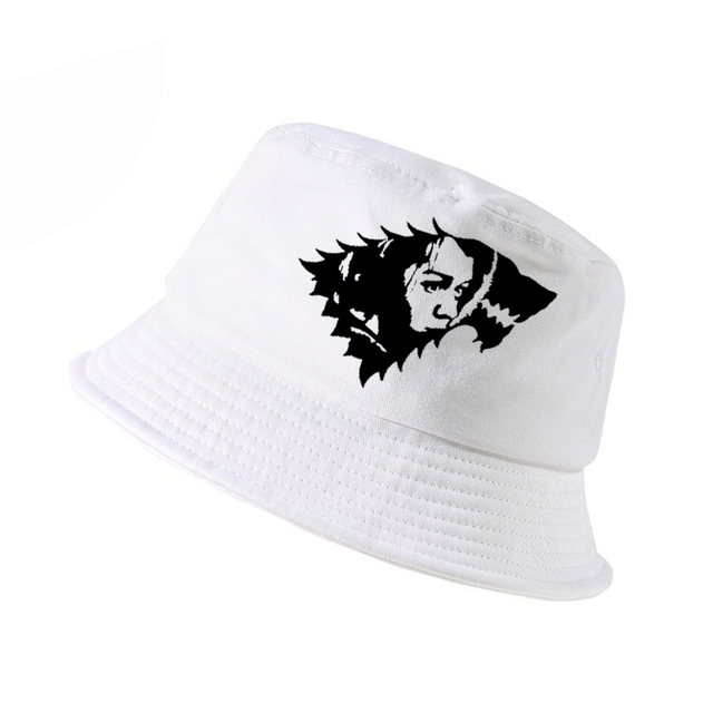 1af3036acc9 Summer Game Of Thrones hat outdoor Women Men Bucket Hats Panama Bucket Cap  Arya Stark casual outdoor Hunting Fishing Sun caps