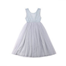 Pudcoco Summer Infant Toddler Baby Girl Flower Dress Lace Tulle Party Bridesmaid Pageant Fancy Dresses cute pink lace flower girl dresses sheer sleeves appliqued baby girl dress tiered toddler pageant birthday dress for party gowns