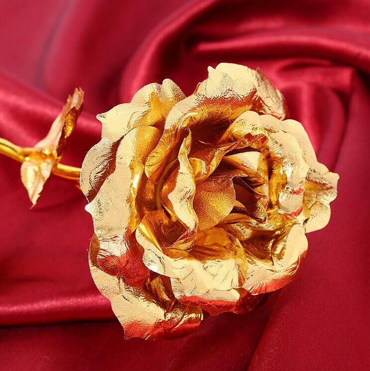 Regalo de navidad Rosa dorada Decoración de boda Flor dorada Regalo - Para fiestas y celebraciones - foto 3