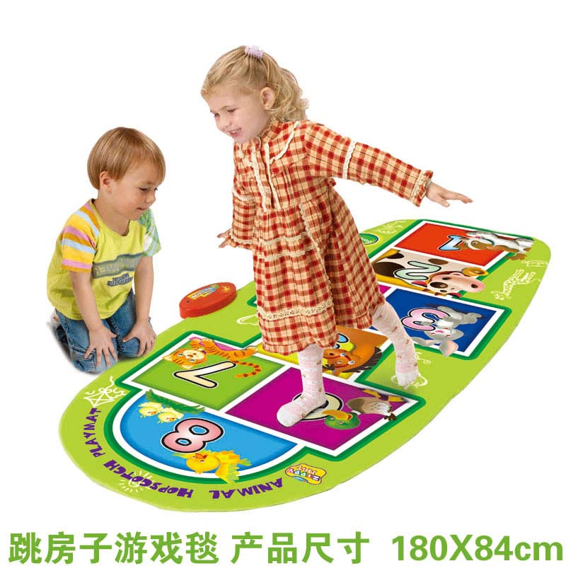 Baby game Mat Music Carpet Kid Child Touch Play Game Musical dance jumping light Carpet Animal number Blanket Toys gift 180*84cm sassy seat doorway jumper 5 toys with musical play mat
