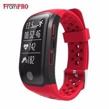 Frompro S908 GPS Smart Band Bluetooth 4.2 сердечного ритма IP68 Водонепроницаемый сна Мониторы Шагомер умный Браслет для Android IOS фононов