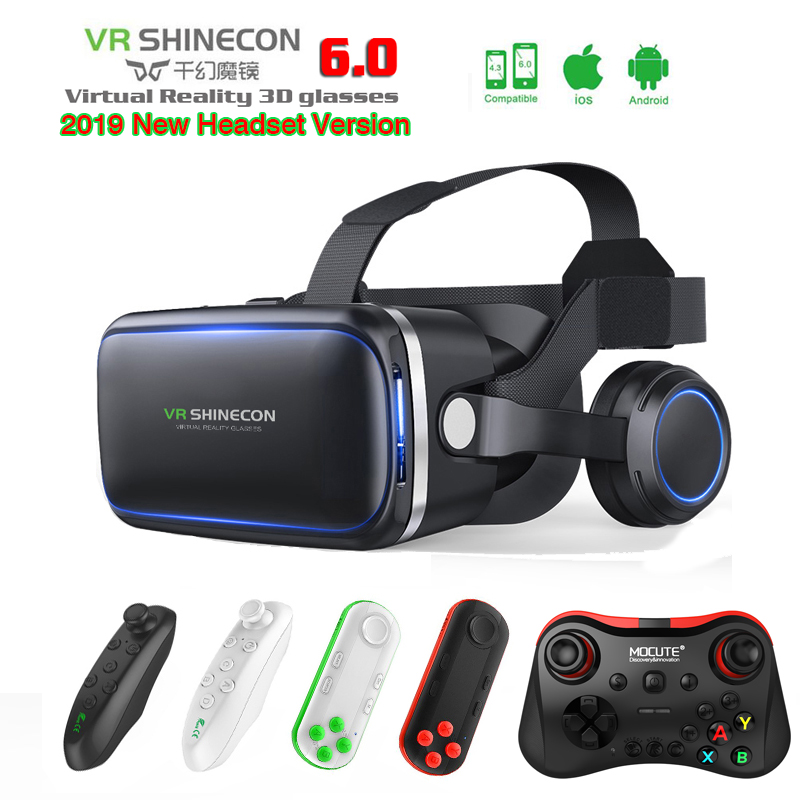 72f94a11449 Shinecon Casque VR Virtual Reality Glasses 3 D 3d VR Goggles Headset Helmet  For Smartphone Google Cardboard Box Stereo 2.0-in 3D Glasses  Virtual  Reality ...