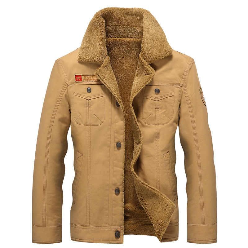 Chaqueta de bombardero de invierno para hombre Air Force Pilot MA1 chaqueta de abrigo de piel para hombre ejército táctico chaquetas de lana 2019 gota envío