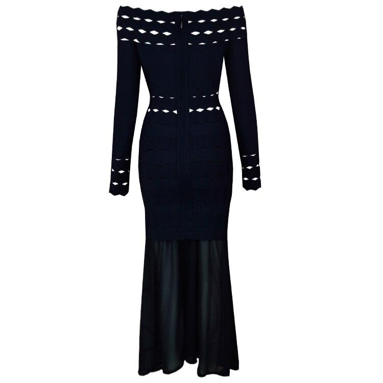Genou Top Celebrity Bandage Qualité Off 2018 Party Femmes Robe Épaule Au Designer Élégante Longueur Sexy WD29IHE