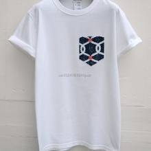 02209f7ea9 Hombres del ancla patrón bolsillo blanco camiseta hombres camiseta de  bolsillo camiseta Unisex hombre Reino U..