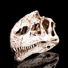 лучшая цена Dinosaur Monolophosaurus Skull Model Fashion Men Biker Punk Creative action figure toys Skeleton collection Bedroom ornaments