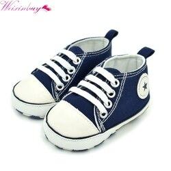 Moda infantil tollder lona berço sapatos do bebê meninos meninas sneaker prewalker sapatos casuais do bebê 0-18 m