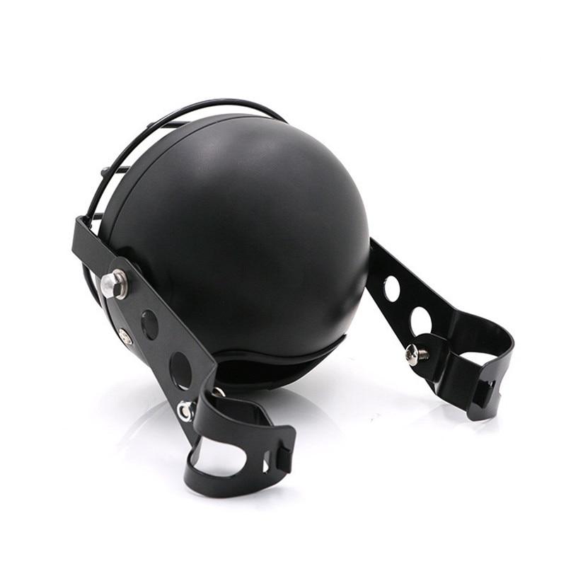 Image 3 - F 1016 Motorcycle accessories headlight net cover GN125 retro black shell round headlights CG125 refit retro headlights