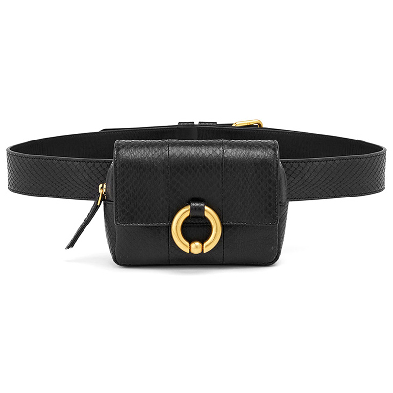 Vogue Design Waist Bags Fanny Pack For Women High-End Leather Serpentine Lady Belt Bags Phone Bag Handy Bum Bag