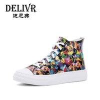 Delivr/женские ботинки из натуральной кожи, модные женские мартинсы, женские ботинки, ботильоны с высоким берцем, повседневные женские ботинки
