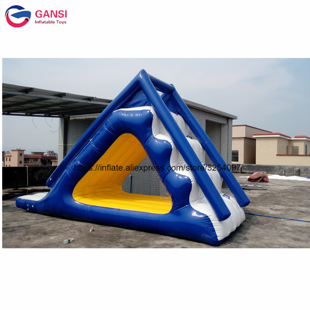 0.9mm pvc commercial inflatable water slide,kids inflatable slip and slide,5m long floating inflatable water slide ocean pvc material inflatable floating water slide for sales lake inflatable water slides yacht slide water slide boat