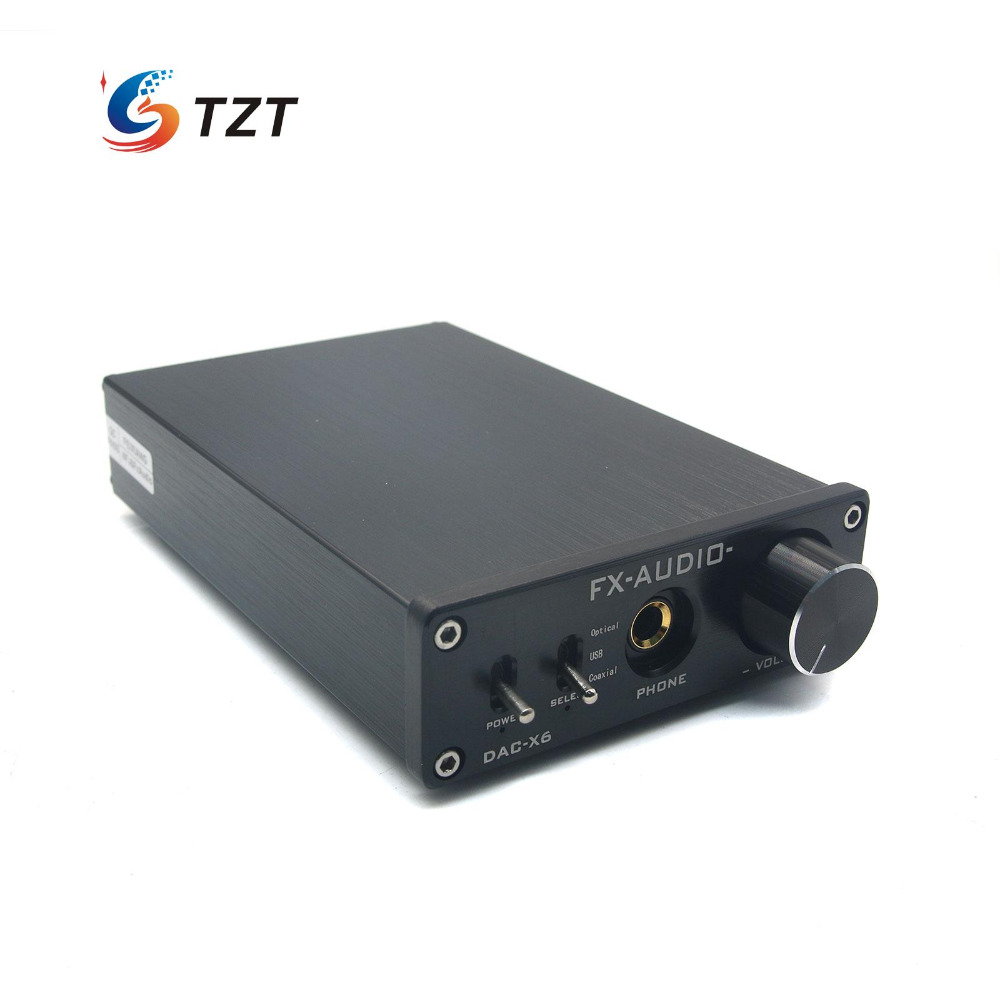 DAC-X6 HiFi Amp USB 24Bit 192Khz Fiber Coaxial Headphone Audio Amplifier DAC Decoder-Silver/Black