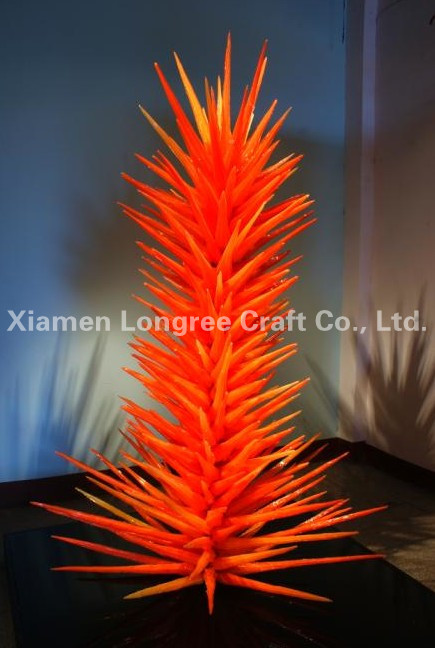 Huge Trees Sculpture Red Large 60 Inches Indoor Decor Chihuly Art Blown Glass Sculptures