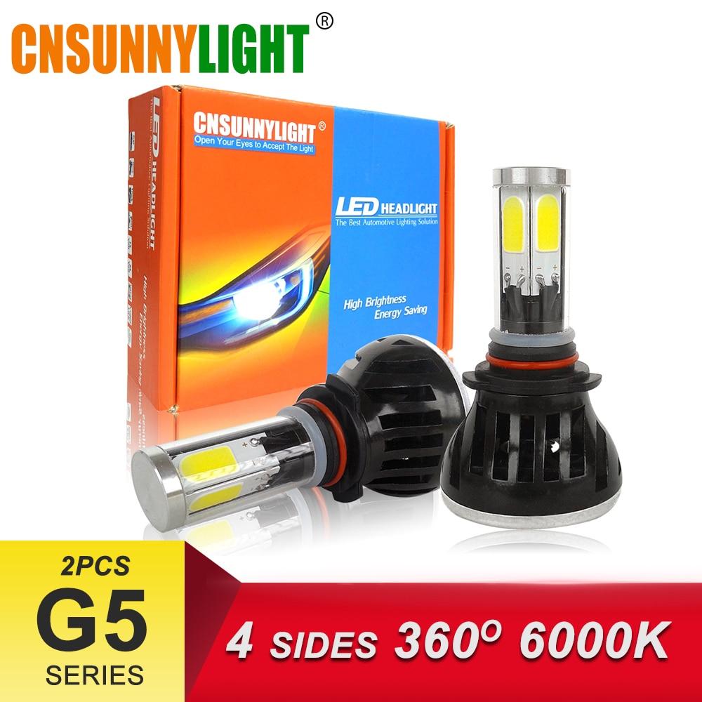 LED H4 H7 H11 9006HB4 9005HB3 COB Car Headlight Bulbs 80W 8000Lm DC 12V 360 Degree Fog Light Sourcing 3000K 5000K 6000K 8000K (02)
