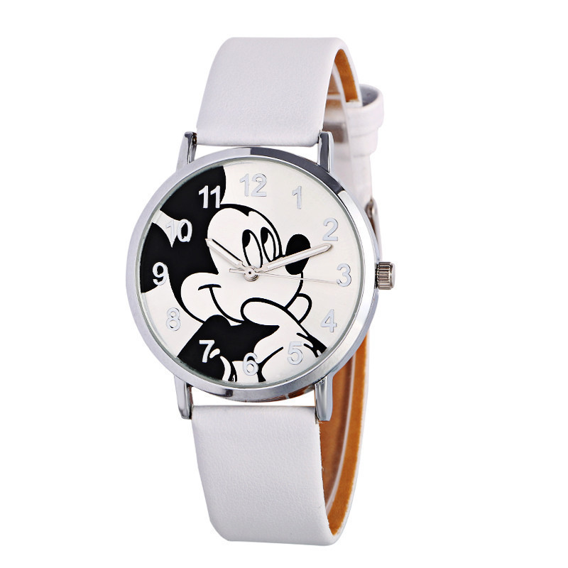 New Brand Retro Leather Women Watches Fashion Denim Cartoon Girl Quartz Watch Ladies Monkey Dial Wrist Watch Relogio Feminino Quartz Watches Men's Watches