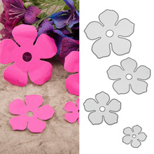 4PCS Assorted Size Metal Carbon Steel Flower Embossing DIY Cutting Dies Stencils Templates Set for Scrapbooking Album Paper Card(China)