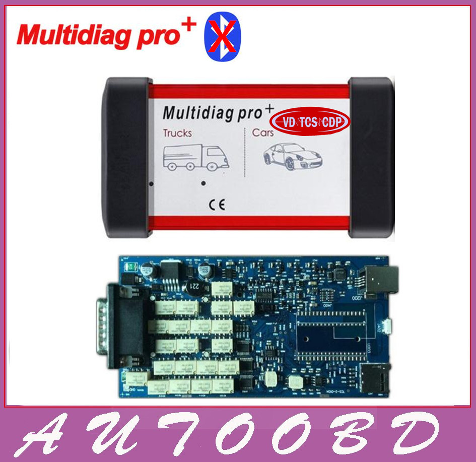 Latest Single Board Multidiag pro+ Same As MVD/VD TCS CDP OBD/OBDII Scanner Car Truck Diagnostic Interface Scan tool Freeship  with bluetooth function super tcs cdp pro plus keygen led 3 in1 sn 100251 obdii obd obd2 scanner diagnostic interface cdp pro