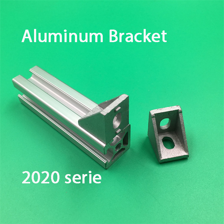 100pcs 2020 Brackets Corner Fitting Angle Aluminum 20x20 L Connector Bracket Fastener For 2020 Industrial Aluminum Profile