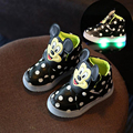 Детей Вскользь Shoes 2016 Модные Мальчики Девочки Hook Loop Sport Shoes Baby Светодиодные Светящиеся Кроссовки Flasher Размер 5.5-12