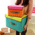 1 piece only Multi-colored beauty storage box big size clothing order box folding 45*35*27cm