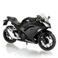 KWSK Ninja 250 Negro motocicleta modelo escala 1:12 modelos Modelos Diecast Metal Moto Raza Miniatura Juguete De Regalo Colección