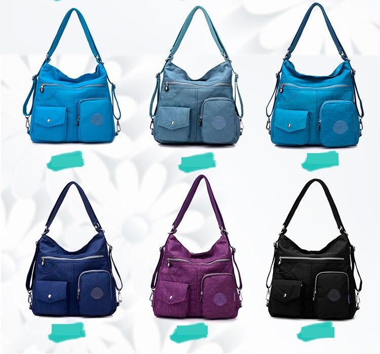 HTB1cnQ4bo rK1Rjy0Fcq6zEvVXa3 Nylon Women Backpack Natural School Bags for Teenager Casual Female Preppy Style Shoulder Bags Mochila Travel Bookbag Knapsack