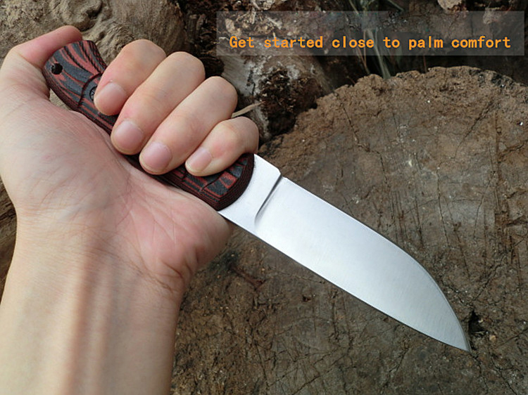 ФОТО MARS MADAM X1108 High-End 7CR18Mov Steel Fixed Blade Tactical Knife Hunting Knife Survival Knives G10 Handle Three Colors