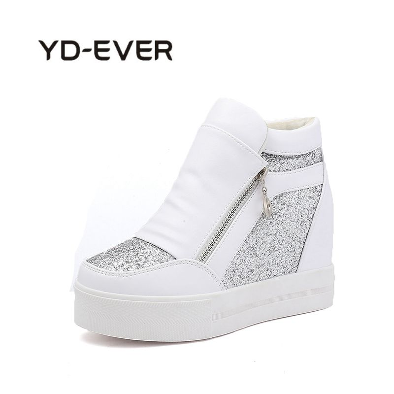 YD-EVER Hot Sale 2018 Hidden Heels New Special Wedge Shoes Womens Elevator Casual For Women