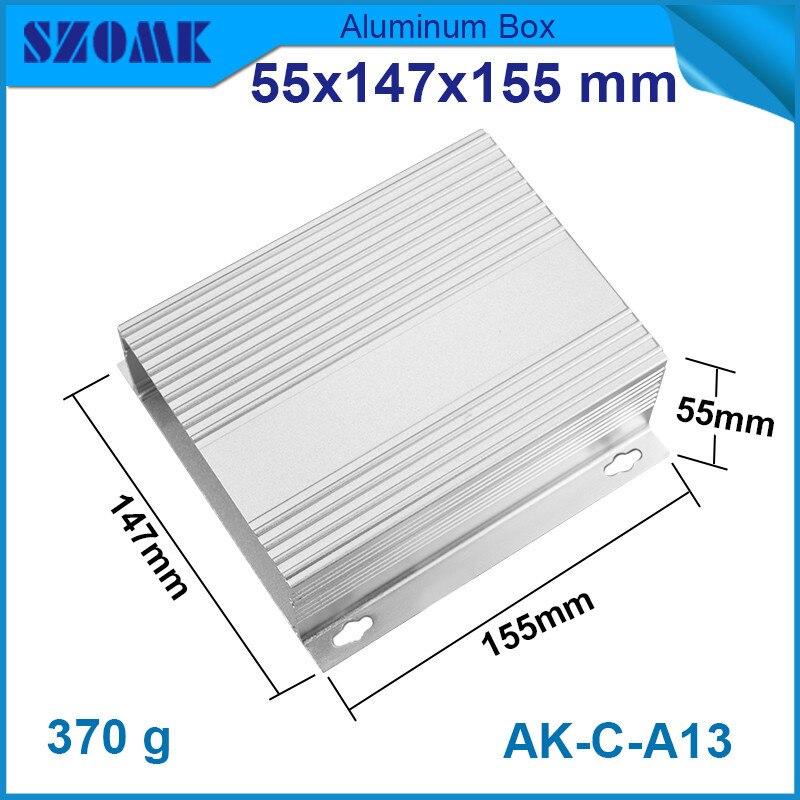 aa59b67c2 4 قطعة/الوحدة 55 (h) x147 (w) x155 (l) ملم الألومنيوم ضميمة الذي يتأكسد و  ساندبلاستيد في سعر نوعية جيدة واقتصادية