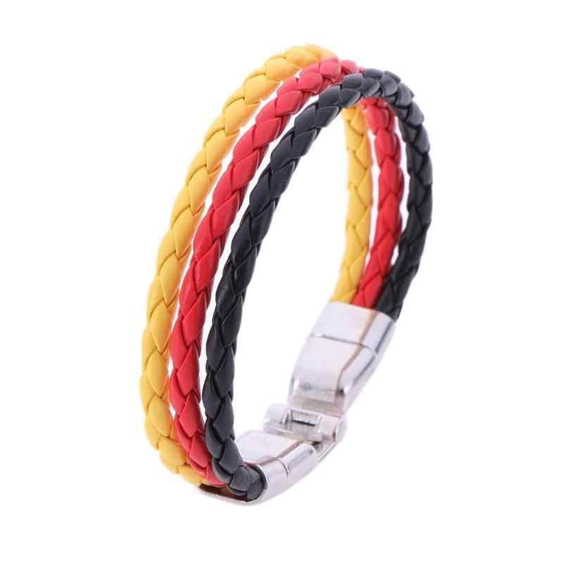צמיד עור אופנתי לגברים נשים בעבודת יד חבל Chian צמיד קסם Bracele