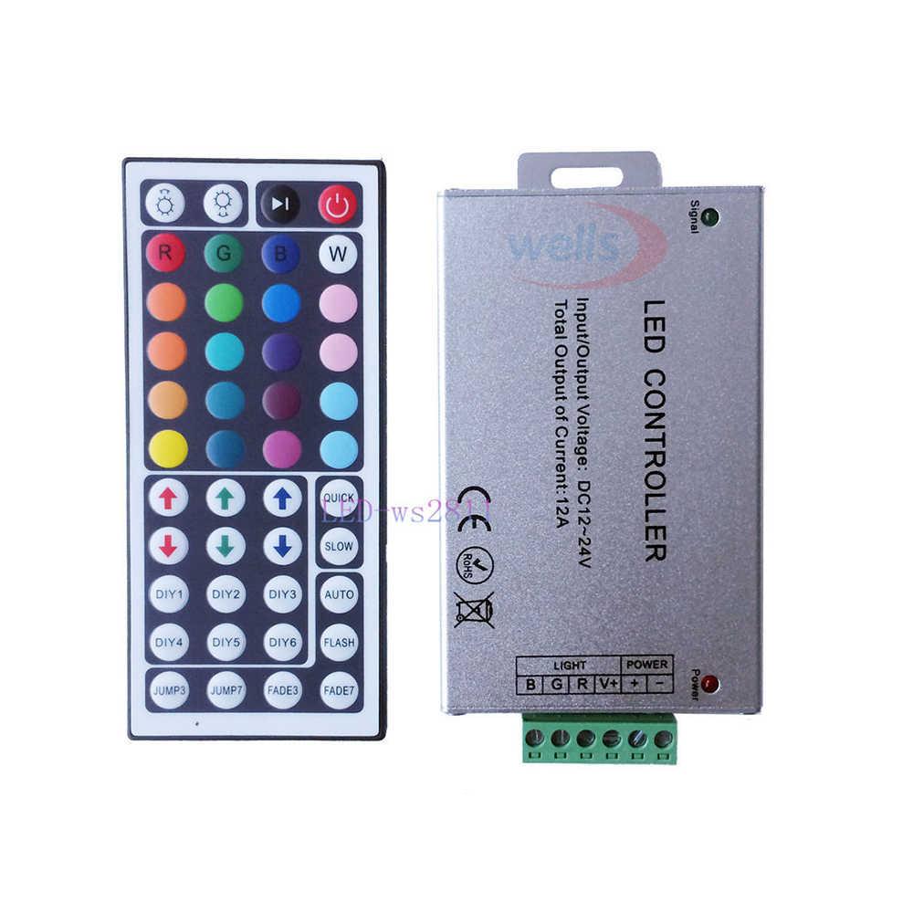 DC12V 24V Мини 3key 10key 17key 24key 44key RGB контроллер для 5050 3528 2835 Светодиодные ленты светильник ленты лампы