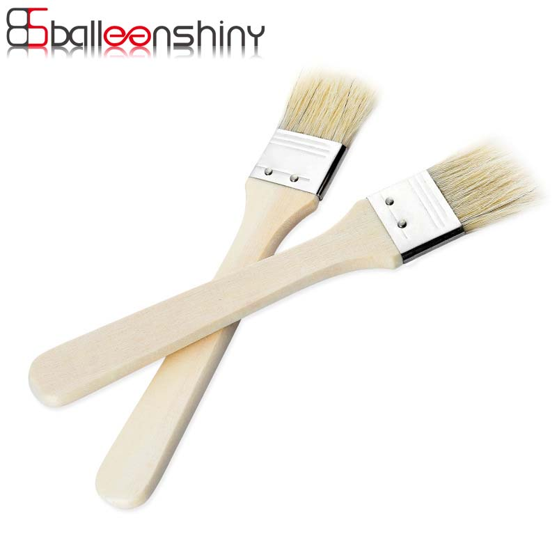 BalleenShiny BBQ Wood Handle Basting Oil Brush Barbecue Cooking Accessories Bristle Brushes Kitchen Gadgets Tools Outdoor Eating