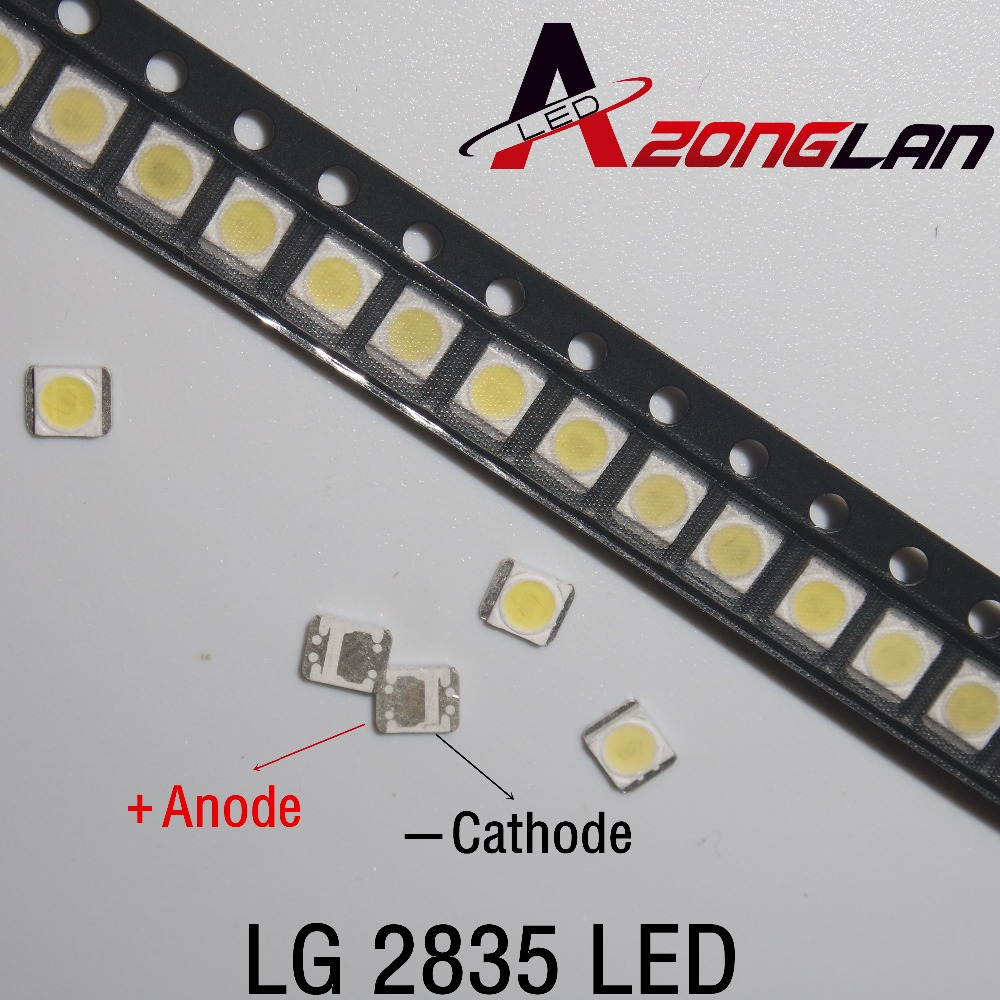 3528 100pcs/Lot  2835 3V SMD LED Beads 1W LG Cold White 100LM For TV/LCD Backlight