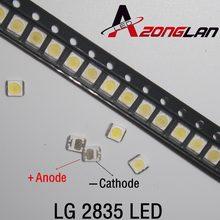 Contas de led 3528 100 3v, smd led contas 1w lg branco frio 100lm para tv/lcd backlight