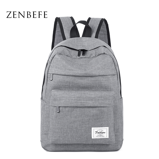 Zenbefe Linen Backpacks School Bag For Agers Fashion Men S Travel Rucksack Large Capacity Book Bags Leisure