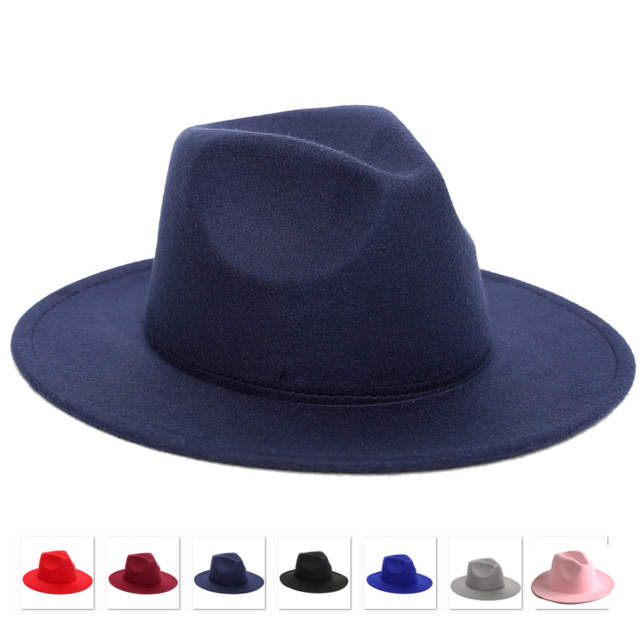 7eb1bc130e7b26 LUCKYLIANJI Retro HQ Wool Felt Kid Child Children Solid Color Panama Fedora  Hat Vintage Gangster Cap