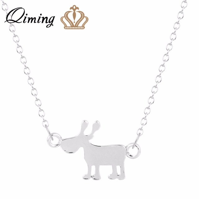 Qiming lovely gold silver horse pendant necklace women za tiny qiming lovely gold silver horse pendant necklace women za tiny animal horse necklace choker necklace cc mozeypictures Gallery