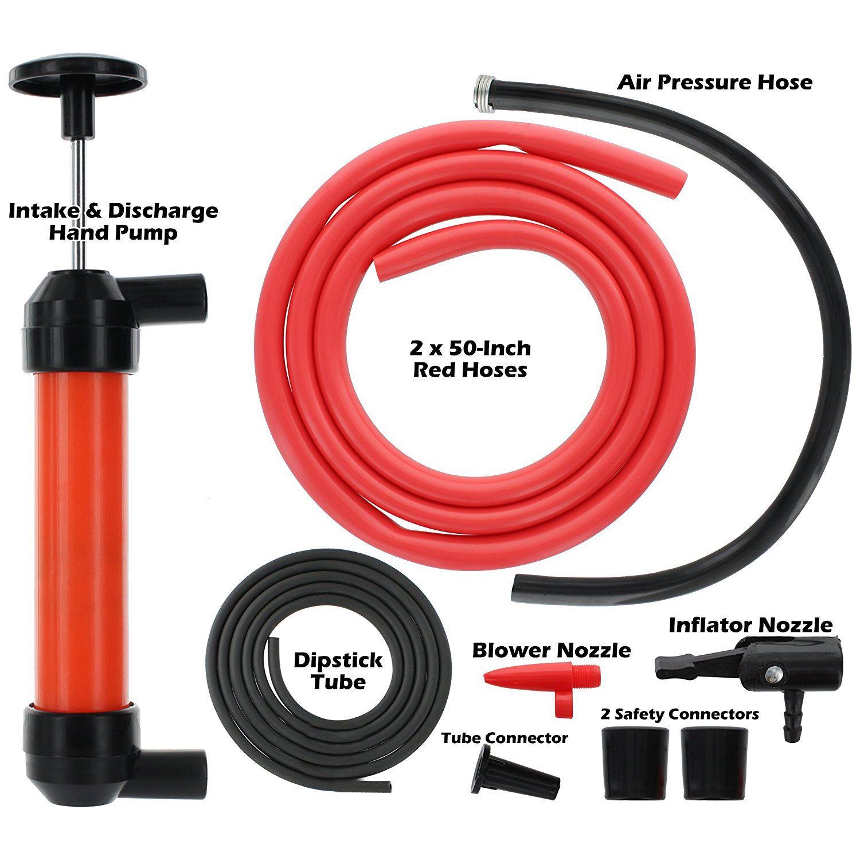 Многоцелевой набор насосов для переноса сифона с трубка щупа   инструмент для всасывания жидкого топлива для масла/бензина/воды и т. Д.