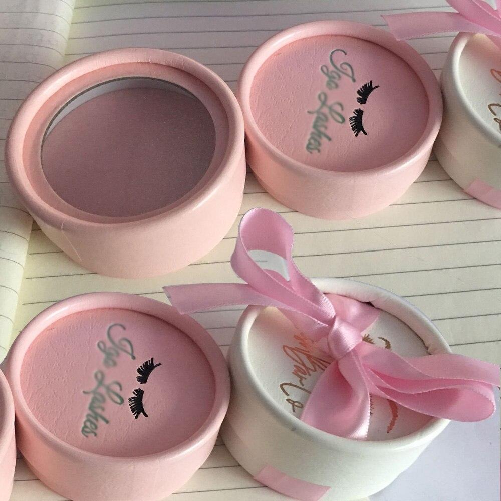 3 stili del commercio all'ingrosso 100 pcs di visone lahses rotonda ciglia finte box Personalizzato il proprio logo Su Misura-made per le piccole i clienti all'ingrosso