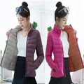 Winter Jacket Women 100% White Duck Down Coat Women's Casual Both Sides Overcoat 2016 New Arrival Slim Ladies Parkas