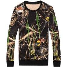2017 new style Men's fashion Hoody Coat Fleece Hood Cardigan Sweatshirts Men's Weeds pattern Sweatshirt size M-4XL free shipping