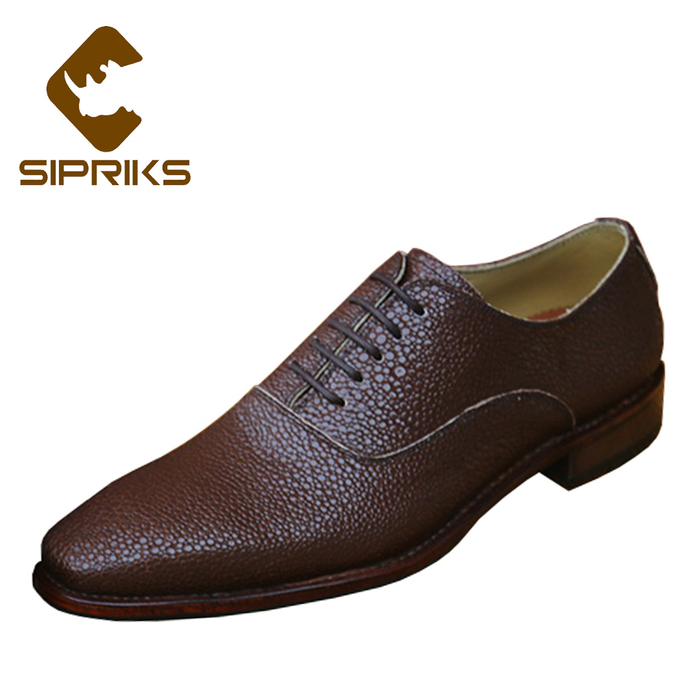 Sipriks Luxury Brand Mens Goodyear Welted Shoes Formal Evening Shoes Boss Classic Oxford Dress Shoes Tan Leather Female Oxfords luxury brand mens goodyear welted shoes hipster mens oxford tan shoes real leather soled dress shoes for men elegant boss shoes