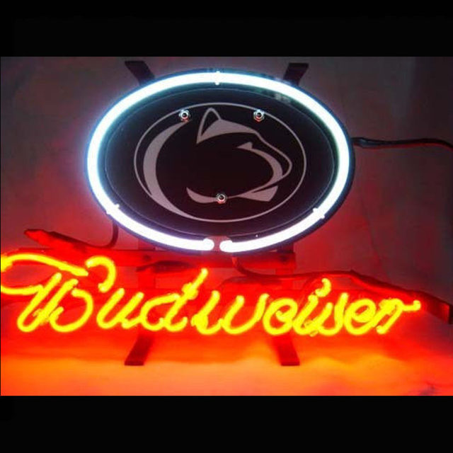 neonlampen fuaball leuchtreklame spiel zimmer neonlicht zeichen auto logo budweis baseball arcade handwerk glas neon lampen garage 13x8 vd fur kuchen