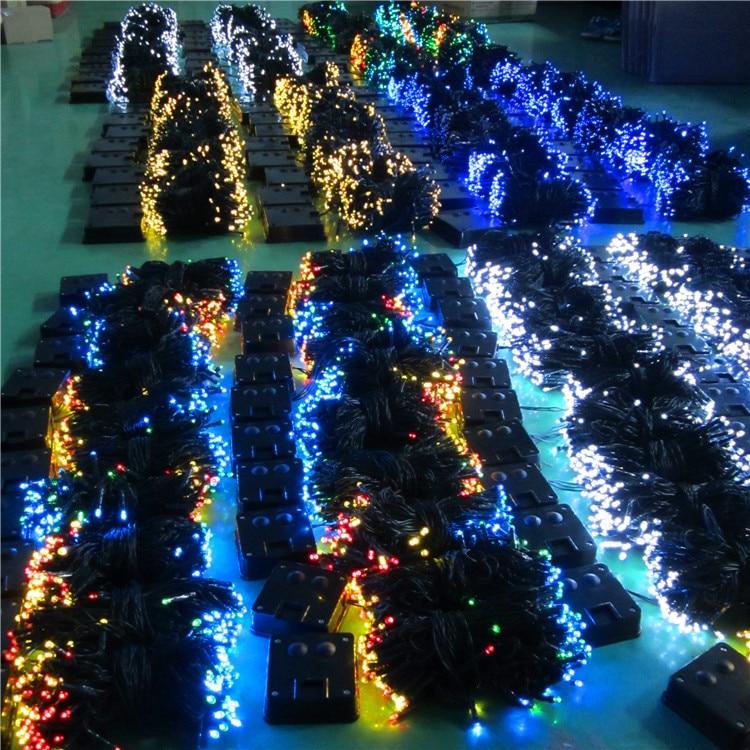 2015 High Quality Blue Christmas Solar Power Led String