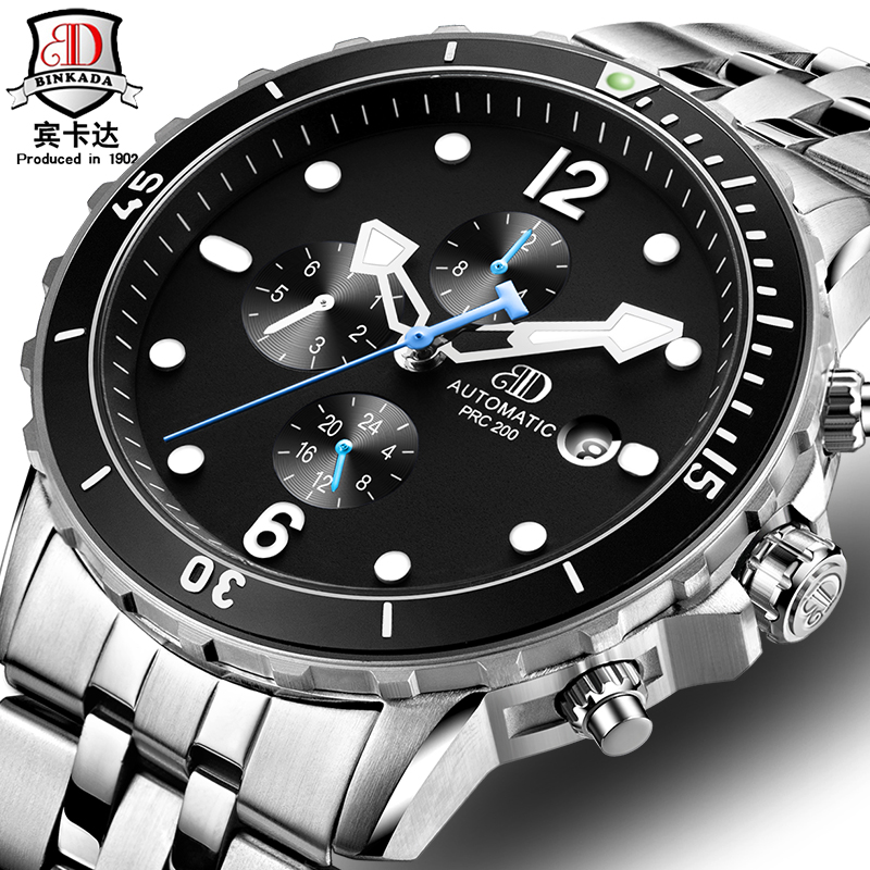 New Watch Men Mechanical Table Automatic Stainless Steel Hollow Large Dial Waterproof Luminous Relogio Masculino Noctilucent все цены