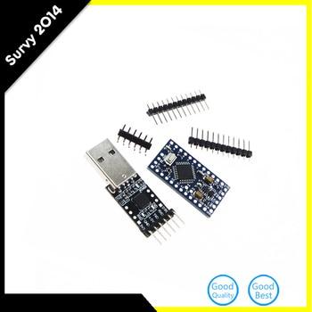 1Set atmega328 Atmega328P Pro Mini 5V 16M Board Module For Arduino + 6PIN CP2102 USB 2.0 to UART TTL Adapter Converter