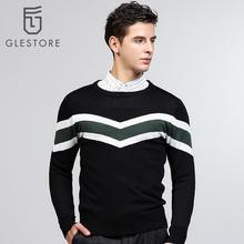 Glestore 2017 New Mens Long Sleeved Knitted Pullovers O-neck Casual Brand-clothing Male Sweater Quilting Pattern Mens Pullovers